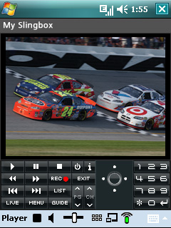 SlingPlayer Windows Mobile Screenshot