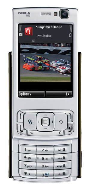 SlingPlayer Mobile for Symbian on the Nokia N95