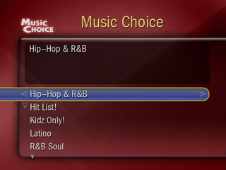 TiVo Music Choice Browse By Genre Screen