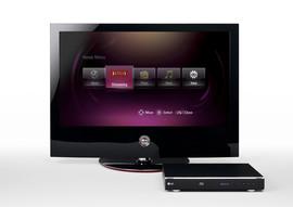 LG BD300 Blu-ray Disc Player main navigation
