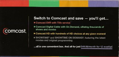Comcast TiVo mailer cover 1