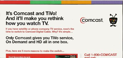 Comcast TiVo mailer inside 1