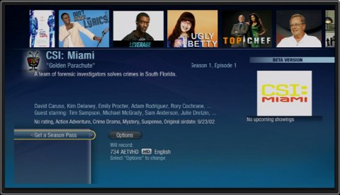 New TiVo Search Interface