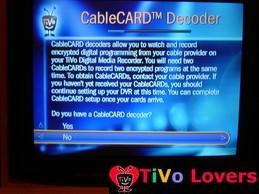 CableCARD Setup