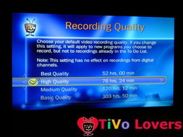 Recording Quality