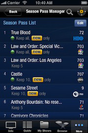 TiVo Releases App for iPhone and iPod Touch | Gizmo Lovers Blog