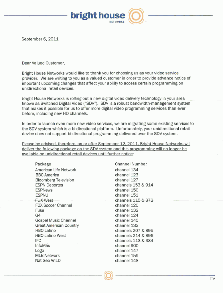 Bright House Networks Sdv Letter 2 Page 1 Gizmo Lovers Blog