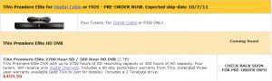 WeaKnees TiVo Premiere Elite Pre-Order
