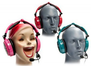 Able Planet Extreme Foldable Noise Canceling Headphones and Microphone Bundle