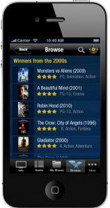 TiVo iOS 1.9 Browse - iPhone
