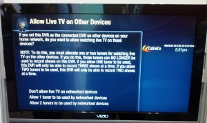 TiVo IP STB Setup Screen