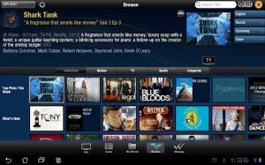 TiVo Android Tablet Screenshot 1